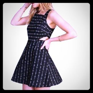 Ecote black and gold cut out dress